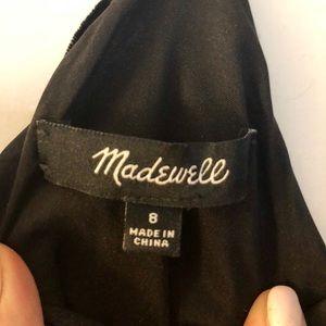 Black velvet Madewell dress